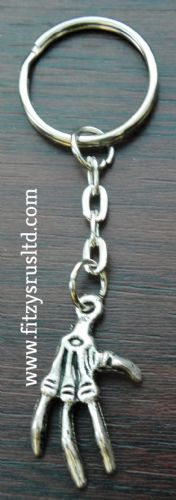 Hand Skeleton Goth Metal Keyring Emo Key Ring